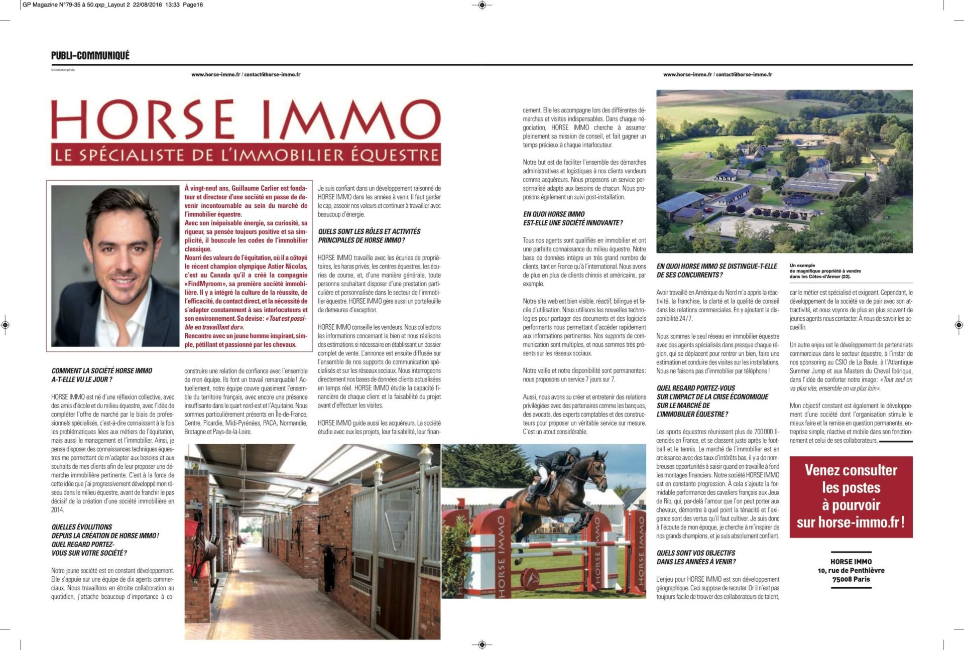 Publi Horse Immo AC V2 1920x1295 - Grand Prix Magazine - Interview Août 2016